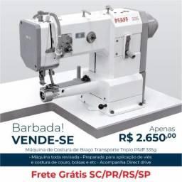 Máquina de Costura de Braço Transporte Triplo Pfaff 335g