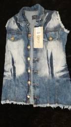 Colete e jaqueta jeans'promoção