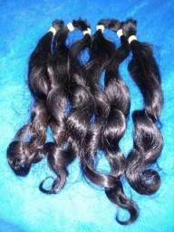 Vendo cabelo humano com 50 cm, grátis um de 35cm