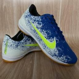 Chuteira Nike Futsal White & Blue