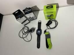 Relógio GPS Garmin 920 XT + Sensor de Antebraço Scosche + Cinta Sensor de Batimentos