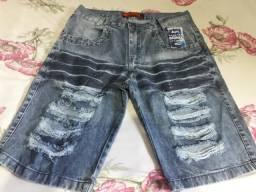 Bermudas jeans e short moletom