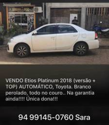 Vendo etios 2018 platinum (+top) - 2018
