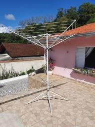 Varal 11 Cordas Giratório com suporte de apoio - 2,3 metros