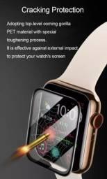 Película Soft Glass e capa para Apple Watch