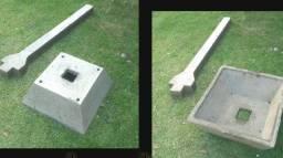 Lixeira de concreto