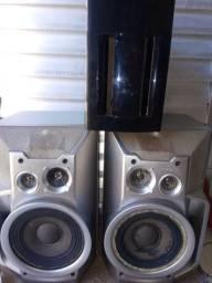 Caixas de som sony  e uma subwoffer