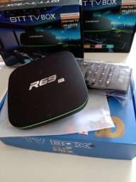 Tv box r69 wi-fi smart 4gb ram 32gb top sem travas