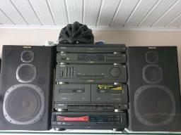 Aparelho de Som 3 em 1 com CD player modulado.