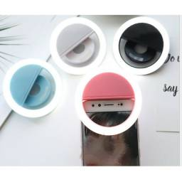 Flash Para Celular Luz Mini Ring Light Clipe Anel Led Selfie ( Azul )