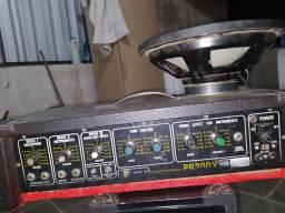 Amplificador + auto falante.