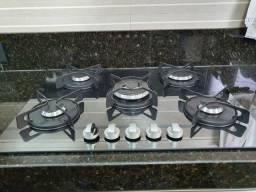 Título do anúncio: Cooktop à Gás Electrolux de Vidro com 5 bocas Silver Espelhado - GC75U