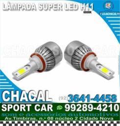 Título do anúncio: par de lâmpada Super led H11 6000k (Produtos novos e nota fiscal)