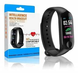 Título do anúncio: Relógio Pulseira M3 Smart Band Inteligente Digital Sáude