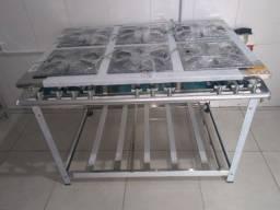 Fogão inox 6bocas baixa pressão Innal - Perfil7