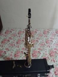 Sax soprano Eagles sp502 preto onix