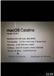 Título do anúncio: Macbook pro core i7 Top