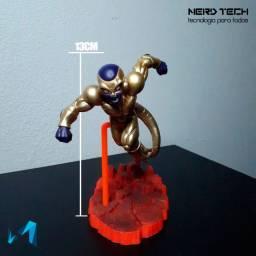 Action figure Freeza dourado NOVO colecionável