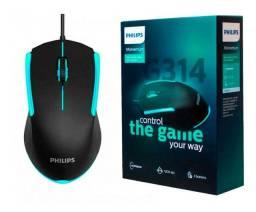Título do anúncio: Mouse Gamer Led 1200 Dpi Optico Momentum Usb Philips 3botoes - Loja Natan Abreu