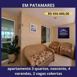 Título do anúncio: Lindo apartamento 3 quartos, nascente, ventilado, 4 varandas, 1 gourmet
