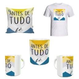 1 kit: 1 Caneca + 1 Almofada + 1 Camiseta (Envie sua numeração)