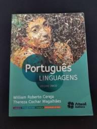 Livro Didático de Português Vol. Único Usado - Editora Atual