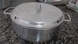 Panela de bolo em aluminio batido