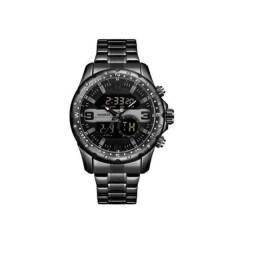 Relógio Masculino Anadigi Weide Preto Wh8502