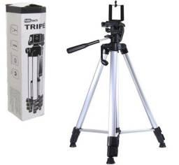 Tripé Universal Portátil Câmeras Celulares 1.37m com Suporte e Bolsa Transporte