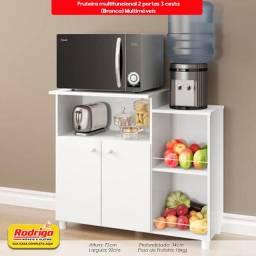 Título do anúncio: Fruteira multifuncional 2 portas 3 cesta (Branca) Multimóveis