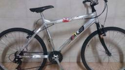 Bicicleta Caloi em alumínio aro 26, 18 masc/ fem