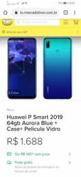 Huawei P Smart 2019, 4RAM, 64GB, Novo na caixa com N/F
