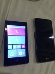 2 celular lg e Nokia