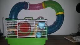 Gaiola para roedores+acessórios