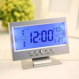 Relógio Mesa Lcd Digital Despertador Temperatura