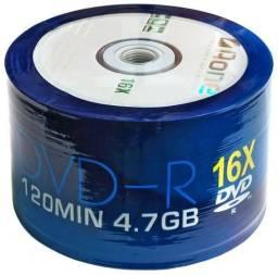 Pack na embalagem de CDs e DVDs virgem novos de fábrica
