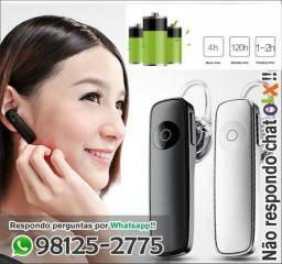 Fone Bluetooth ( com Microfone )( sem fio ) comprido k