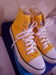 All Star Amarelo Cano Alto R$ 40