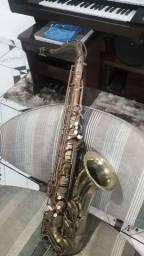 Sax tenor dolphin adição especial instrumento desplacado
