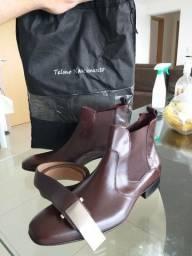 Sapato social + cinto de couro legítimo Telmo Nascimento