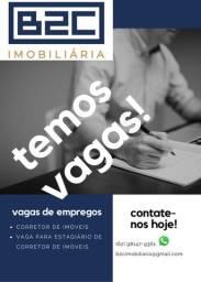 Vagas para corretor de imóveis, empresa com sede no Setor Bueno-Goiânia-GO
