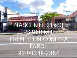 21x30 R$ 960 Mil Nascente Av Tomás Espidola Frente Unicompra Farol