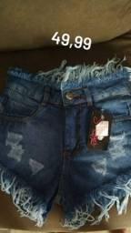 Short jeans novo na etiqueta