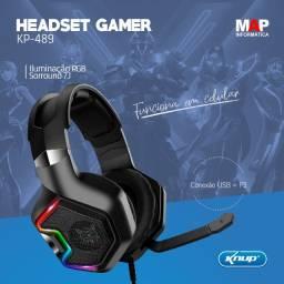 Headset gamer Knup kp 489 (conexão P3)
