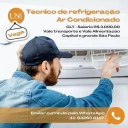 Título do anúncio: Técnico de Refrigeração Ar condicionado