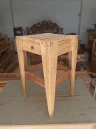 Banquinho banco tamborete madeira barato