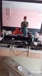 bancada de barbearia e cadeira