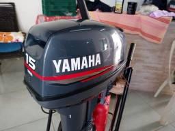 Motor de popa 15hp yamaha ano 2009 em ótimo estado. *