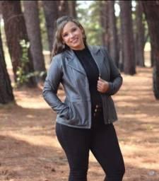 Jaquetas de couro legítimo feminina