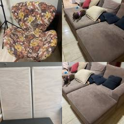 Título do anúncio: Vendo sofa-2 bases cama super king e 4 cadeiras decorativas